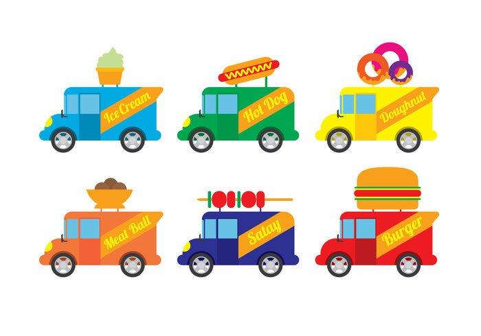 food-truck-vector