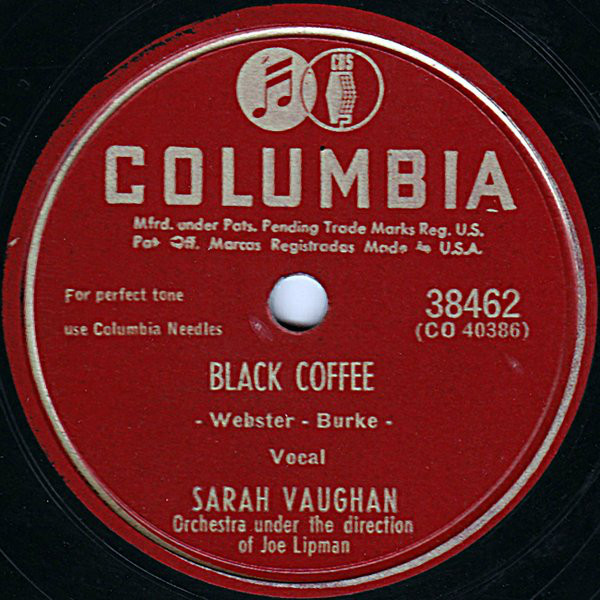 Sarah Vaughan Black Coffee