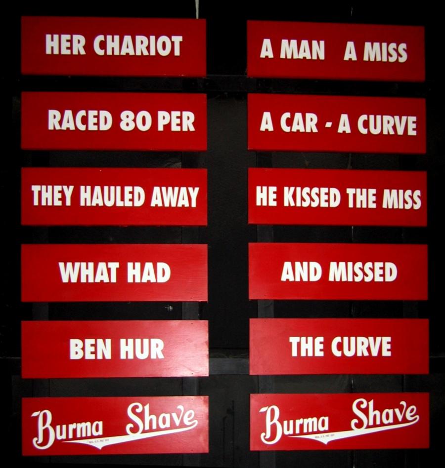 Cultural References Burma_Shave_slogans