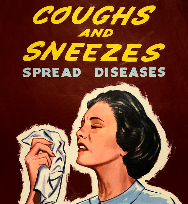 Crop of Vintage New Zealand Public Health Poster