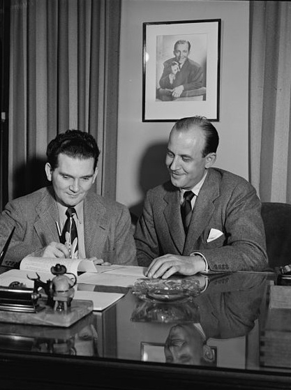 Miscast (Portrait_of_Joe_Mooney_and_Milt_Gabler(_),_Decca_office(_),_New_York,_N.Y.,_ca._Dec._1946)_(LOC)_(5395259017)