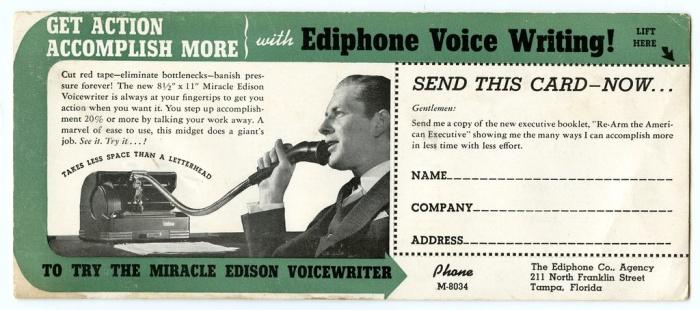 Audio Format Wars Edison Voicewriter